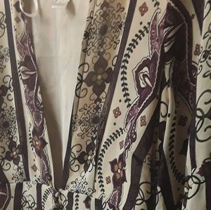Fall floral boho brown paisley romper Forever 21 S